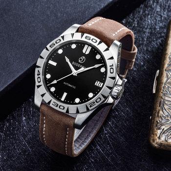 Relojes de marca superior para hombre, a la moda reloj de pulsera de acero inoxidable, mecánico, de lujo, resistente al agua, reloj Masculino
