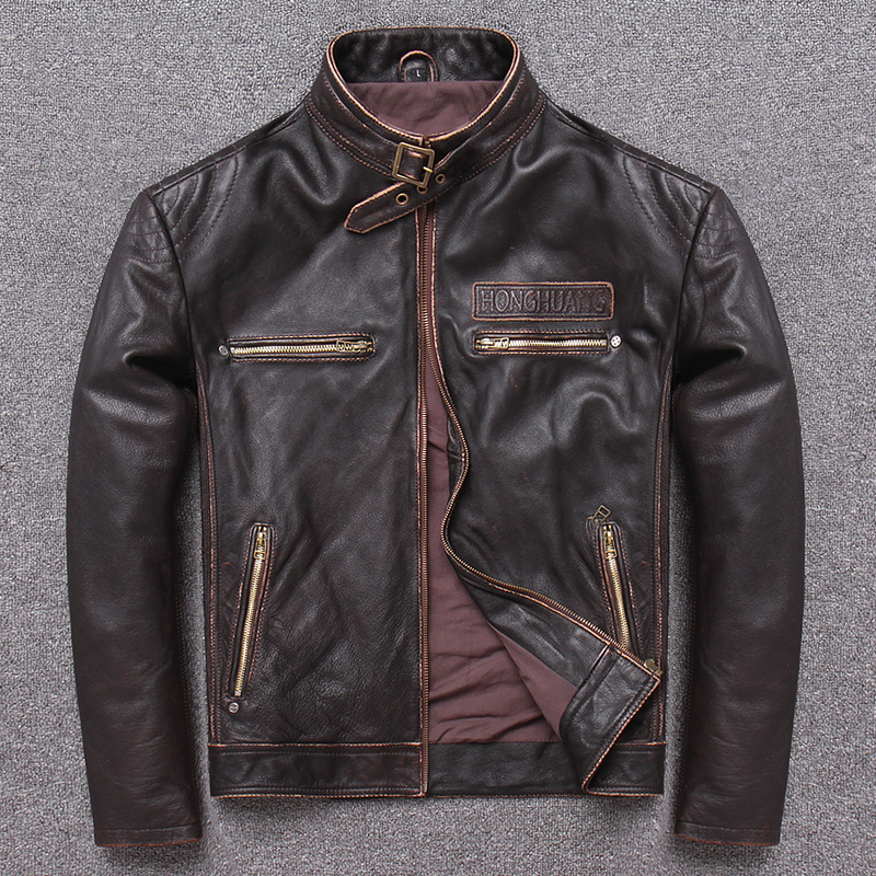 100% Genuine Jacket Men Winter Autumn Clothes 2020 Korean Streetwear Real Cow Leather Coat Man Chaqueta Cuero Hombre 508