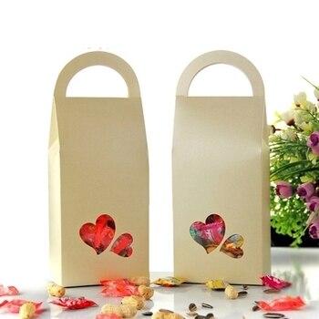 Light yellow Stand Up Paper Box, chocolate gift box,cookies packing box 30pcs/lot