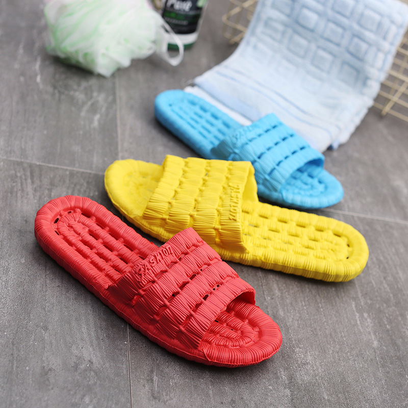 Summer Slipper Men And Women Couples Bath Hollow Out Anti-slip Sandals Pool Bathroom Leaking Home Drag