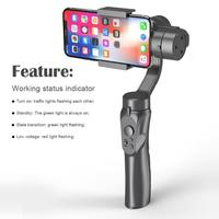 H4 3 Modes USB Charging Smartphone Gimbal Handle Handheld Stabilizer Grip Portable Fast Regulation Good Stability Dropship New