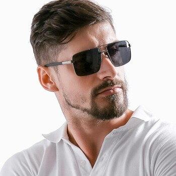 дизайнерские солнцезащитные очки | Для мужчин широкий рецепт Gafas поляризованный Ультрафиолетовый защита солнцезащитные очки линзы для близоруких классический дизайн солнце...