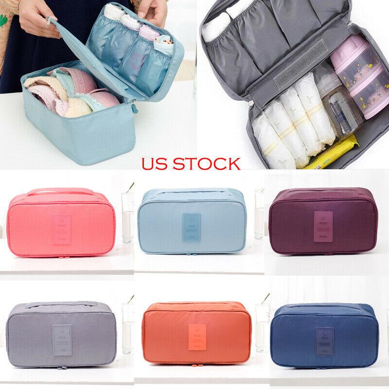 Hot Bra Underwear Socks Storage Bag Oxford Cosmetic Packing Waterproof Cube Makeup Bag Travel Luggage Organizer