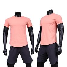 Męskie koszulki do biegania szybko suche koszulki treningowe leginsy sportowe koszulki piłkarskie koszulka sportowa mężczyźni kompresja odzież sportowa koszulki na siłownię tanie tanio SHEDAO Wiosna summer AUTUMN Winter Poliester Pasuje prawda na wymiar weź swój normalny rozmiar Short sleeve Black White Pink Blue Gray blue