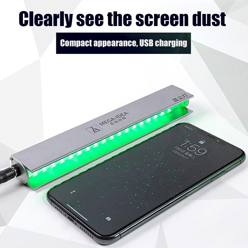 LCD Screen Dust Checking Lamp Fingerprint Scratch Detection Scanner Detection Light For Mobile Phone Laptop Screen Repair Tools