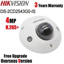 Minicâmera hikvision original DS 2CD2543G0 IS, 4mp, dome, h.265 + poe ir 10m, substituição DS 2CD2542FWD IS outdoor, fixa, minicâmera ip