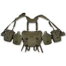 2 차 세계 대전 육군 군사 사냥 베트남 전쟁 미국 등반 M1956 M1961 M16A1 필드 기어 패키지 장비 더 긴 버전