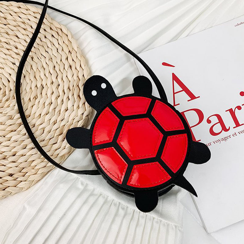 Children's Cute Turtle Shaped Single Shoulder Bag Fashion Novel Funny Diamond Shaped Crossbody Bag New