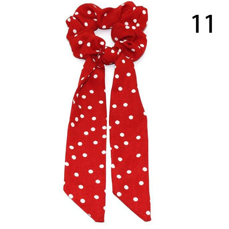 Femmes banderoles chouchous à pois imprimé Floral élastique noeud cheveux corde fille cheveux cravates coréen doux cheveux accessoires chapeaux 68