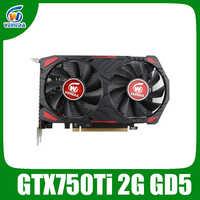 Veineda carte graphique originale GPU gtx 750 ti 2GB 128Bit GDDR5 pc de bureau cartes vidéo pour jeux nVIDIA Geforce