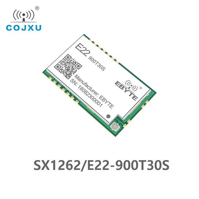 Sx1262 1 w uart lora tcxo 915mhz módulo E22 900T30S cdebyte sem fio módulo 868 mhz de longa distância iot smd ipex interface transmissor