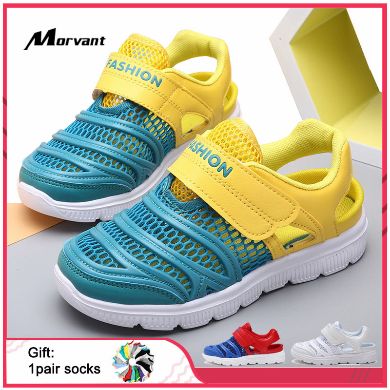 Kids Sandals Mesh Breathable Children's Sandals EVA Non-slip Soft Boys Girls Shoes Lightweight Casual Kids Sandal
