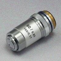 60X Achromatische Objektiv Biologische Mikroskop Ziele mit Konjugat Abstand 195mm 1PC