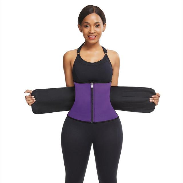 3 Steel Bones Neoprene Sauna Waist Trainer Corset Sweat Belt for Women Weight Loss Compression Trimmer Workout Fitness Wholesale 2