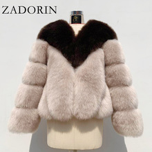 Fluffy Fur Jacket Coat Faux-Fur Plus-Size ZADORIN Women Streetwear Long-Sleeve Furry