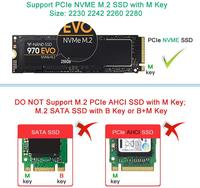 card reader Onvian M.2 NVME to USB Adapter M-Key M.2 NGFF NVME to USB 3.1 Card Reader 10Gbps M.2 USB Adapter for Windows XP 7 8 10, MAC OS (2)