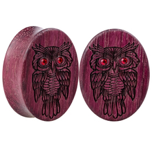 1 Pair Natural Wood Owl Ear Tunnel Plugs Piercings and Tunnels Women Piercing Original Body Jewelry Punk 10-25mm