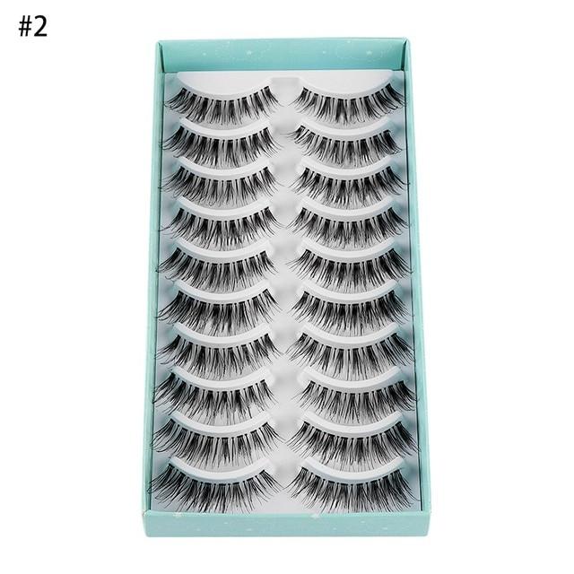 10Pairs Natural False Eyelashes Fake Lashes Wispy Thick Long Crisscross Lashes Extension Handmade Eyelash Charming Eyes Makeup 4