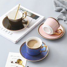 Golden embellishment Ceramic Coffee cup tea Mug Home Water Cup Breakfast Cup With Lid Spoon Creative Cup Gift Home drinkware peacock shape water cup large capacity mug with lid spoon creative personality tea cup ceramic coffee cup latte milk mug