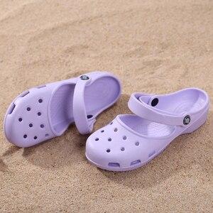 Image 5 - חדש הגעה נשים של קל דירות סנדלי קיץ זול Mule קבקבי גבירותיי בנות גן נעלי עבודת סיעוד כפכפים נעליים