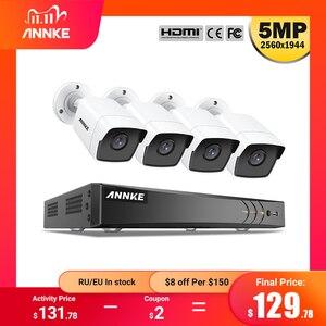 Image 1 - ANNKE H.265 + 5MP Lite Ultra HD 8CH DVR CCTV Security System 4PCS 5MP IP67 Weaterproof Outdoor 5MP Kamera video Überwachung Kit