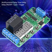 цена на DR42A01 12V Dual Channel Timing Relay Multifunctional DPDT0.1-9999 Delay Timer Relay Time Control Switch Module