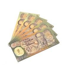 Tailandia-billetes de 50 Baht en papel dorado de 24k, dinero del rey humibol, Colección 50 °. °