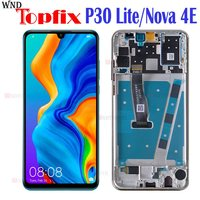 100% Tested LCD For HUAWEI P30 Lite LCD Display Touch Screen with Frame For Huawei P30 Lite Nova 4E LCD Display MAR LX1M LX2|Mobile Phone LCD Screens| |  -