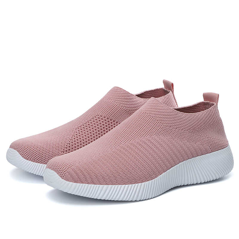 Damyuan 2020 ayakkabı kadın ayakkabı kadın Flats çorap Sneakers hafif artı boyutu yaz mokasen yürüyüş düz ayakkabı bayanlar