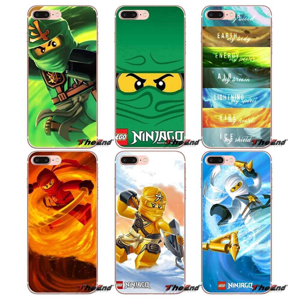 Pour iPhone X 4 4S 5 5S 5C SE 6 6S 7 8 Plus Samsung Galaxy J1 J3 J5 J7 A3 A5 2016 2017 ninjago kai Accessoires coques de téléphone Couvre