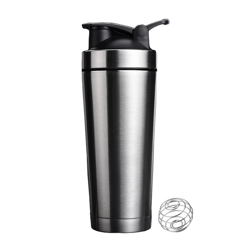 Stainless Steel Protein Shaker Bottle Sports Water Bottle Shaker Cup Double Wall Vacuum Insulated Coffee Mug Thermos BPA Free image