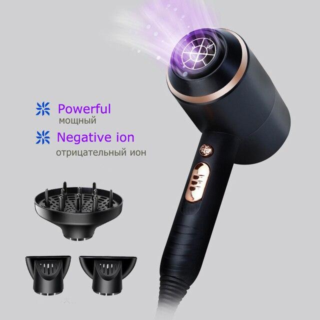 Профессиональный электрический фен для волос Kemei 4000 Вт, мощный Фен для волос с горячим/холодным воздухом, инструменты для сушки волос