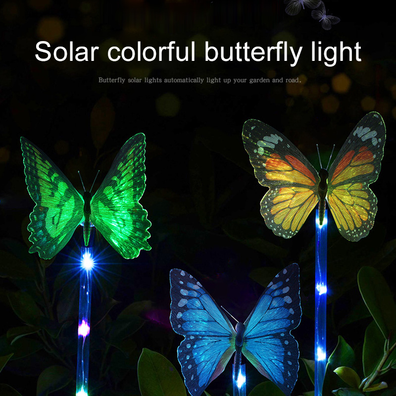 Light Up Solar Stake Light Travel Supply Auto 7 Color-Changing Outdoor Backyard Pathway Decoration Durable Eco-Friendly Patio