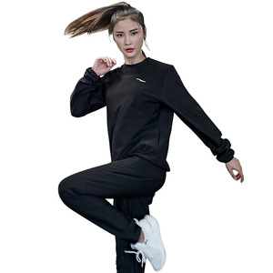 Image 5 - Gym Clothing Set Womens Hoodies Pullover Sportswear Running Fitness Training Jersey Weight Loss Sweating Sauna Sports Suit