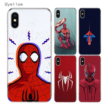 Uyellow Red Spiderman TPU Trend Cover For Iphone 5 6S 7 8 9 10 Plus Silicone Soft Phone Case Apple X XR XS MAX Coque Shell