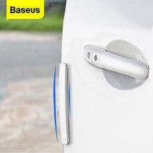 Baseus – Protection d'angle pour porte de voiture, 4 pièces, bande de Protection contre les rayures, barre de Protection pour porte de voiture