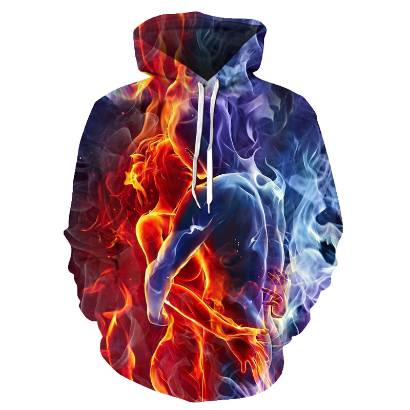 Hooded Sweatshirt Drawstring Pocket Hoodie Coat Autumn Men Sweatshirt Women Hoodies Outwear Hot Print Men 3D Casual Full Regular