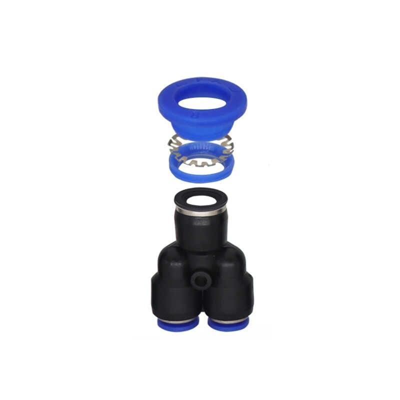 3 웨이 포트 Y 모양 공기 공압 4mm 6mm 8mm 10mm 12mm OD 호스 튜브 푸시 가스 플라스틱 파이프 피팅 커넥터 퀵 피팅