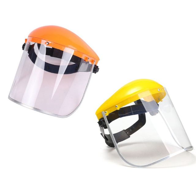 Anti-Saliva Dustproof MaskTransparent PVC Safety Faces Shields Screen Spare Visors Head Face Respiratory tract Protectio