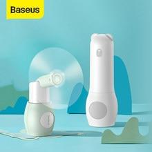 Baseus 2000mAh taşınabilir soğutma Mini USB Fan 2 hızlı sessiz küçük Fan şarj edilebilir hava fanı el açık USB Fan masaüstü vantilatör
