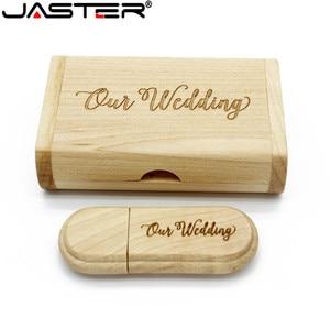 Image 5 - JASTER 1PCS משלוח מותאם אישית לוגו לייזר חריטת עץ + תיבת pendrive 4GB 8GB 16GB 32GB 64GB USB דיסק און קי צילום מתנה