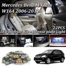 22 шт. светодиодная интерьерная с Canbus огни комплект для Mercedes Benz M Класс W164 ML320 ML350 ML420 ML450 ML500 ML63 AMG интерьерные огни 06-11