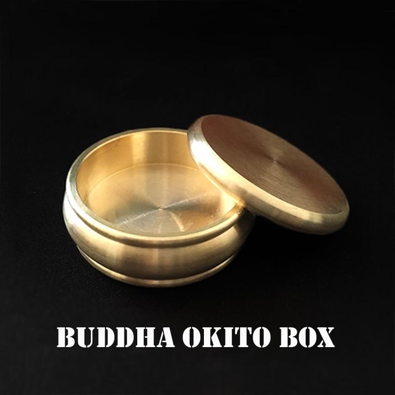 Buddha Okito Box (Half Dollar,Brass) Magic Tricks Coin Appear Penetrate Magia Magician Close Up Illusions Gimmick Prop Mentalism