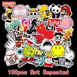 LIMINGYI 100Pcs 50Pcs Cutes Stickers Anime Stickers Pvc Material  Motorcycle Guitar Sticker Cartoon Small Stickers Pack TZ144G