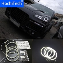 HochiTech for Porsche Cayenne 2007-2009 Ultra bright SMD white LED angel eyes 2600LM 12V halo ring kit daytime running light DRL(China)