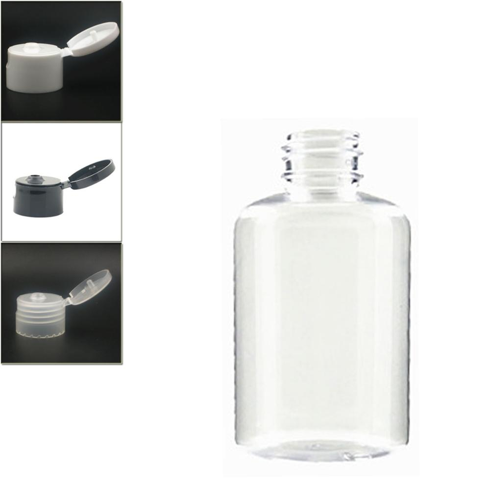 120ml Empty Dispensing Cap Boston Round Plastic Bottle , Clear Pet Bottle With Transparent/white/black Flip Top Lid