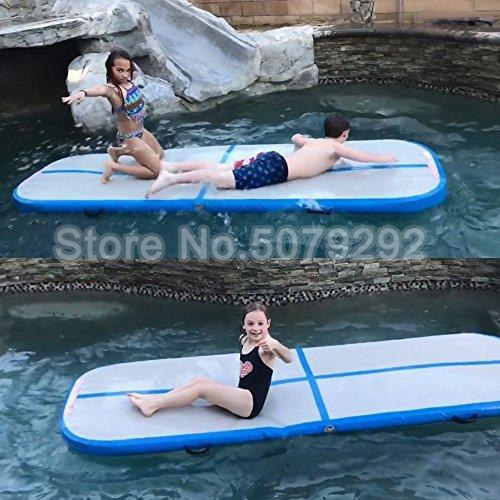 Blue Color Inflatable Track 3M Inflatable Tumble Track With Air Pump DWF Air Track Tumble Customized Inflatable Gym Track