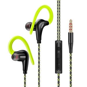Image 2 - 3.5mm Ear Hook Earphones Sport Running Headset Wired Earphone Fitness MP3 Earbuds for Sony Honor for Redmi Note 8 fone de ouvido