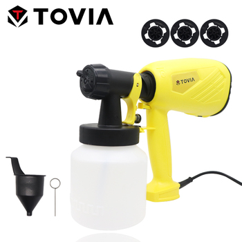 цена на HVLP Electric Spray Gun 230V Paint Sprayer with 3 Nozzle 550W Power Paint Gun High Pressure Paint Sprayers Home Painting Project