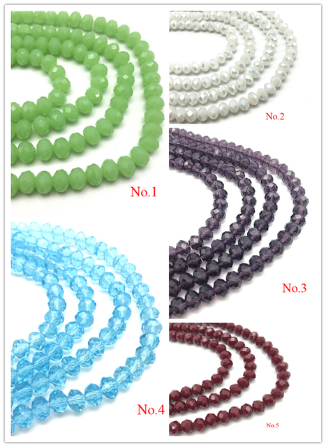3x4mm/4x6mm/6x8mm Crystal Rondel Beads Wheel Faceted Glass Beads for Jewelry Making Diy Jewelry Accessories Jewelry Findings